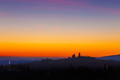 San Gimignano sunrise