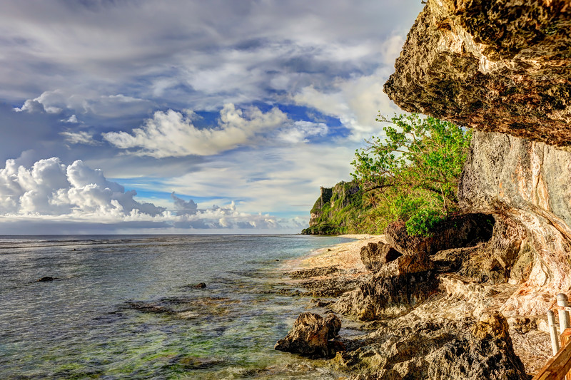 Rocky path along the sea