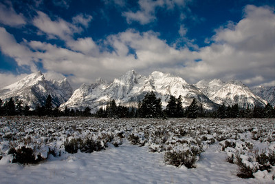 Grand Tetons in the snow