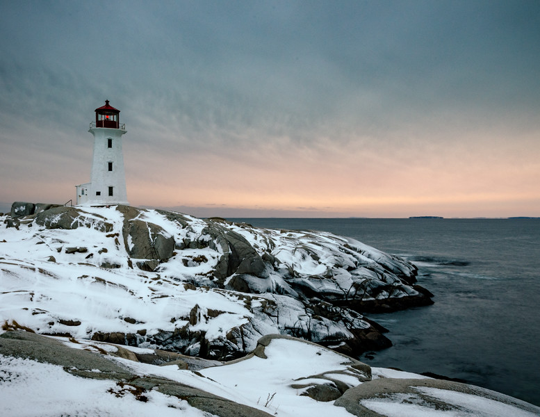Peggy's Cove - Wintry sun set