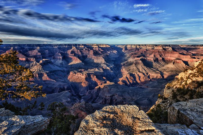 Grand Canyon Sunset - HDR. Grand Canyon, Arizona, February 2011.