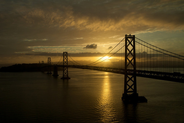 Bay Bridge at Sunrise, San Francisco