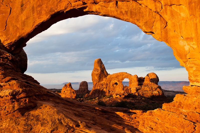 View of Turret Arch through North Window