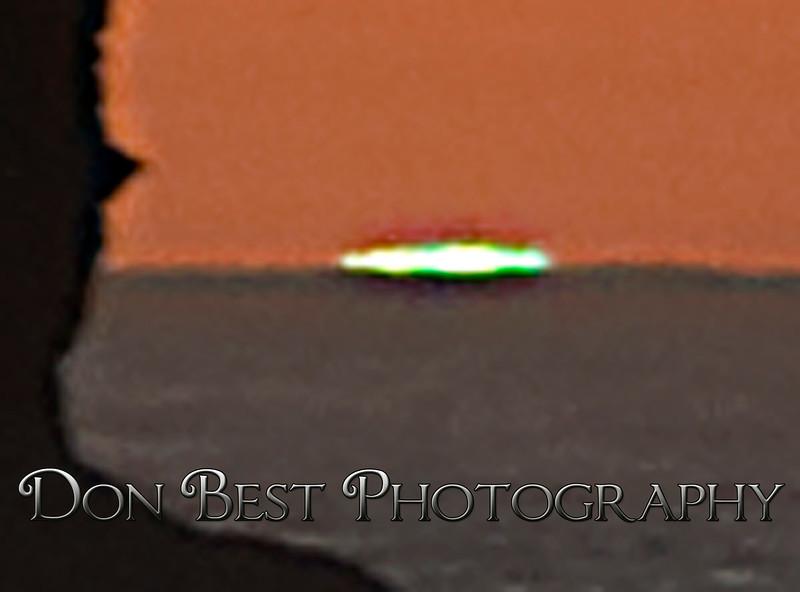 Twin Rocks Green Flash close up #0624