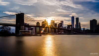 Sunset Upon the Brooklyn Bridge
