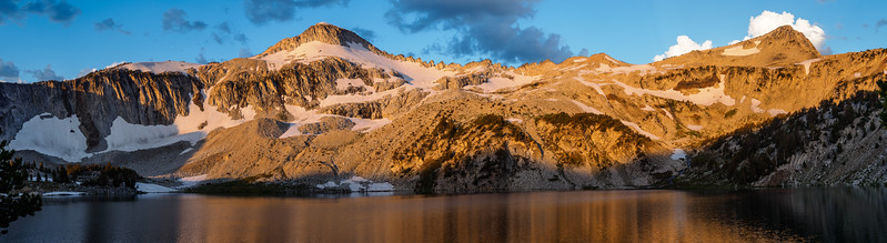 Glacier Lake Sunrise Panorama