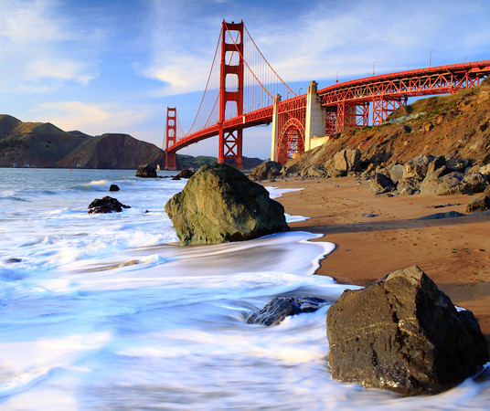 Golden Gate Bridge near Baker beach.