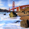 Golden Gate Bridge near Baker beach.