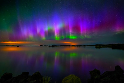 Aurora Reflection, Iceland