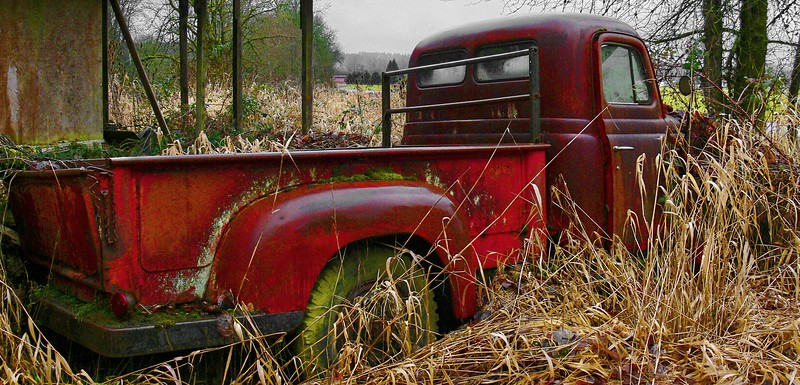 Old Red Chevy