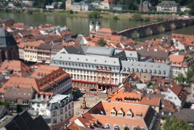 Downtown Heidelburg.  Tilt-Shift affect applied.