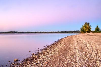 Buck Creek State Park Lake Sunset