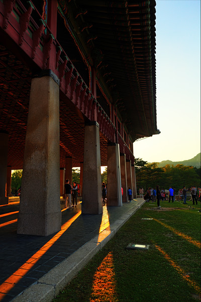 Pillars at Gyungbokgung palace