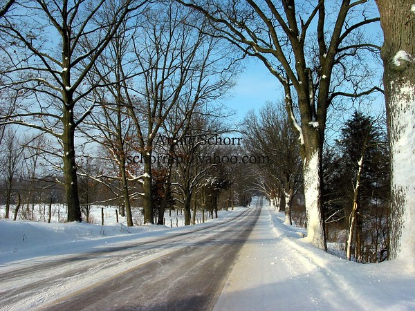 A country road near Middleville, Michigan in 2004