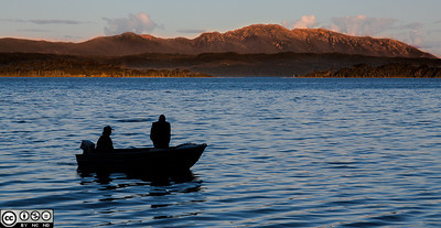 Returning to shore, Macquarie Harbour, TAS,  Australia