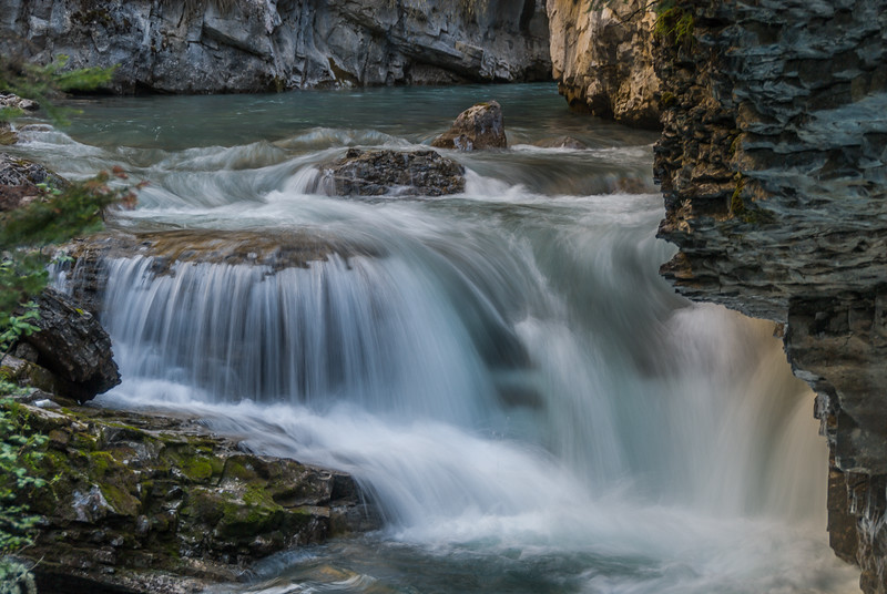 Waterfall in Johnston Canyon, Lower Falls