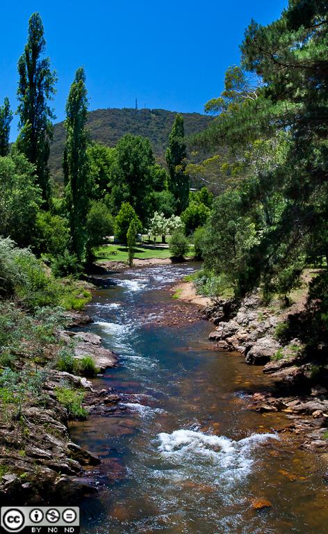Ovens River at Bright, VIC,  Australia