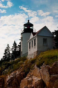 Bass Harbor Lighthouse, close up, Acadia NP