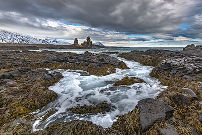 Londrangur Sea Stacks from afar, Iceland