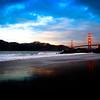 Sunset upon the Golden Gate Bridge.