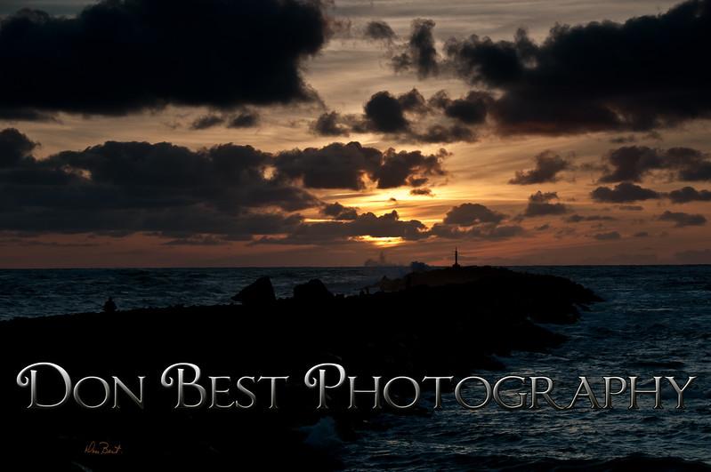 Sunset Tillamook Bay North Jetty #4763