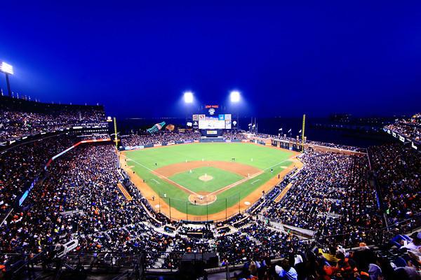 San Francisco Giants vs San Diego Padres at AT&T park.