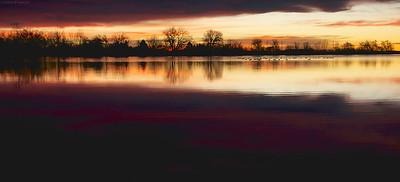 Subtle sunrise at McCall Lake
