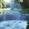 Horseshoe shaped waterfall in Shannock RI