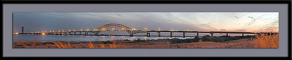 Panorama of Robert Moses Bridge, Long Island, NY