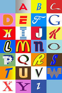 Pop-Alphabet—Can you guess the logos?