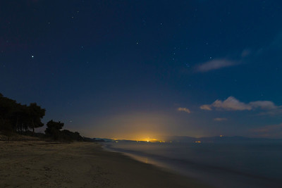 Stars over a mediterannean beach