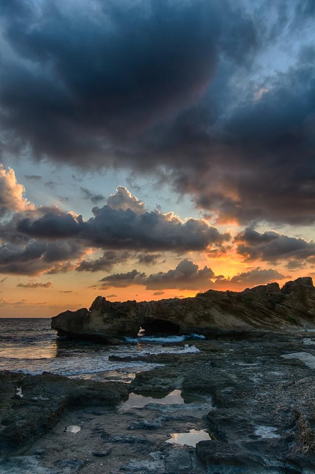 Nachsholim firey sunset