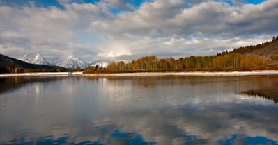 Oxbow Bend with the first snow