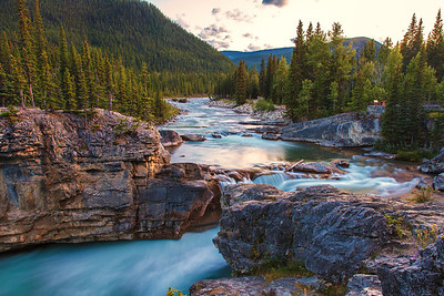 Elbow Falls, Sunset, Kananaskis, AB