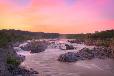 Great Falls Summer Sunset  || Great Falls Park, VA
