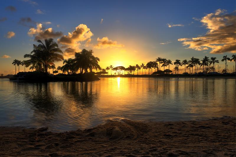 Sunset Flare Hawaii
