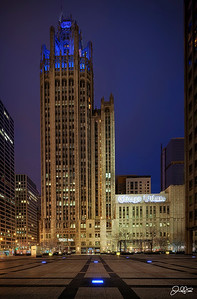 Tribune Tower...  Tribune Tower is a Neo-Gothic building and is home the Chicago Tribune, WGN Radio, and CNN's Chicago Branch. I just found out that I have been given special access to the rooftop of this building for sunset later today so Im pretty excited to see what the view is from up there!!!
