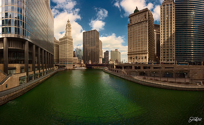 DyedGreen...  The main branch of the Chicago River still showing its green color from last weeks St. Patrick's day celebration. Taken on the Spring Equinox, temps were definitely not indicative of spring. The mercury was a chilly 17 degrees (5 degrees with wind chill) and I seriously felt like my hands were going to fall off while setting up this shot. Even though it was cold, It was nice to be out shooting that's for sure!! Im looking forward to getting out some more as the weather warms up these next few weeks!!!