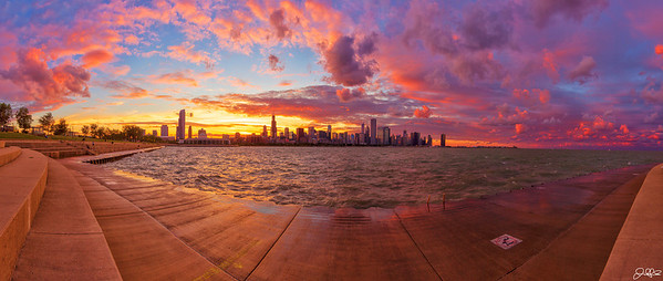 Epic Chicago Sunset...  Its days like these that fuel my drive to capture the beauty that mother nature possesses. Magical sunsets like this dont happen everyday here in Chicago, that's for sure. Over the past couple of days the storm cell over Lake Michigan has been producing some dramatic skies and I have definitely been enjoying watching the display. Early on in the day I had a feeling that sunset was going to be decent, but I never expected it would turn out like this!!