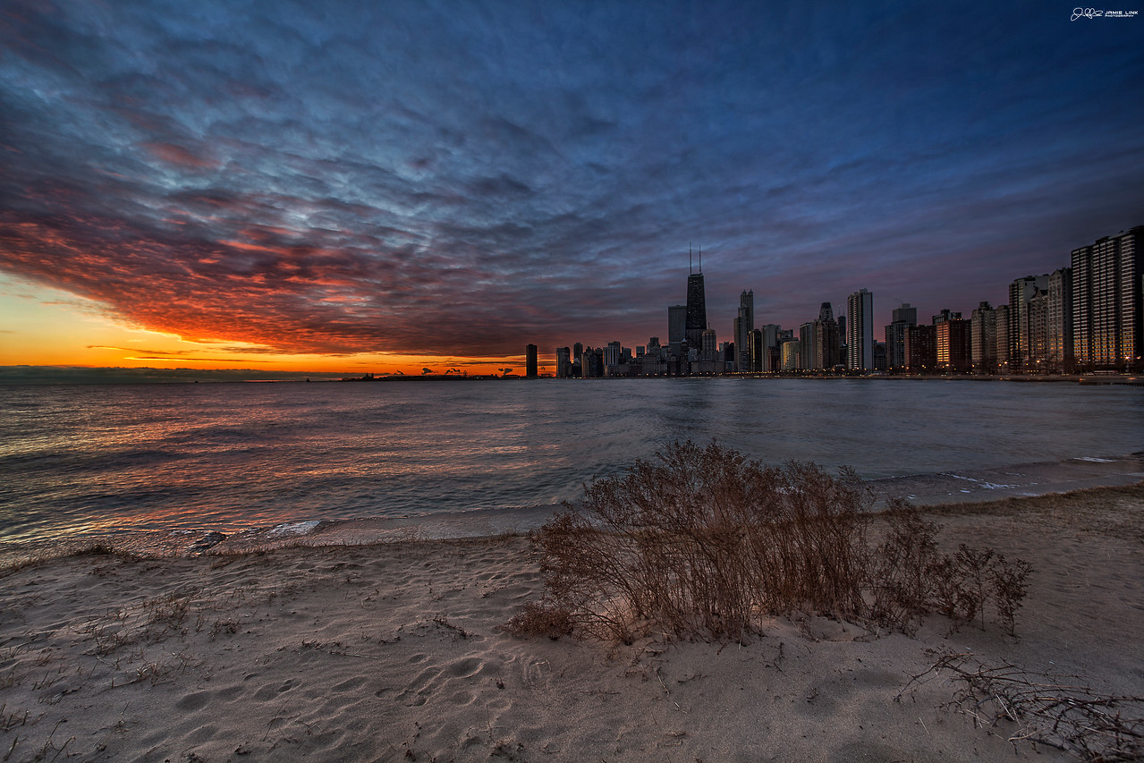 """COLD WINTER CHICAGO SUNRISE..<br /> <br /> Even though it was freezing out, it was definitely worth bundling up to catch this beautiful sunrise!!!<br /> <br /> Voted Photo of the Day by Chicago's Channel 2 News...<br />  <a href=""""http://www.capturemychicago.com/photos/2011/12/30"""">http://www.capturemychicago.com/photos/2011/12/30</a>"""