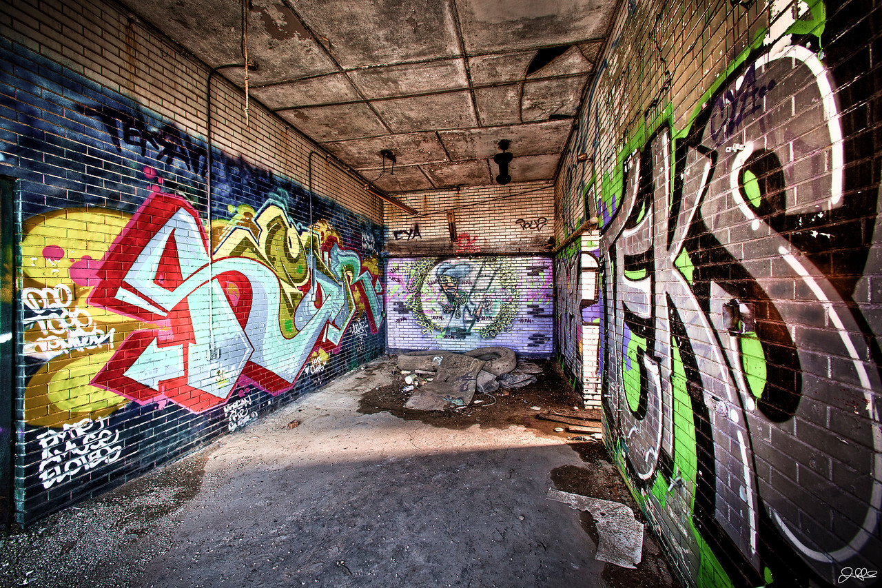 Abandoned Chicago<br /> <br /> This abandoned factory on Chicago's southwest side is filled with all sorts of Graffiti. Its one of the spookiest places I have ever photographed in. All sorts of howls, creaks, and creepy noises filled the air and made the hair on the back of my neck stand up. It was pretty freakin awesome!!!