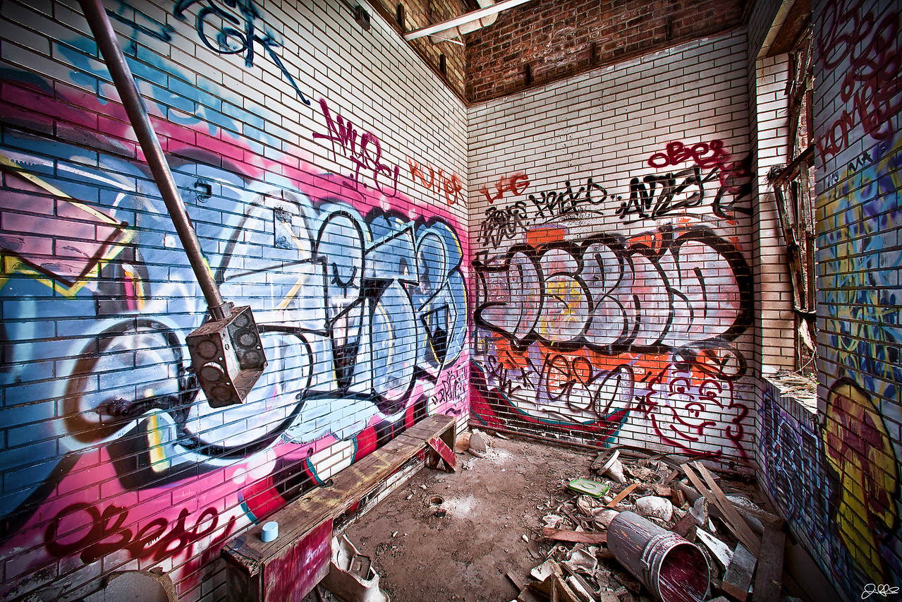 Abandoned Warehouse Lower Level Side Room...<br /> <br /> Located in the warehouse, this side room on the lower level of the abandoned factory complex is easily accessible to anyone willing to venture inside. No climbing required..!
