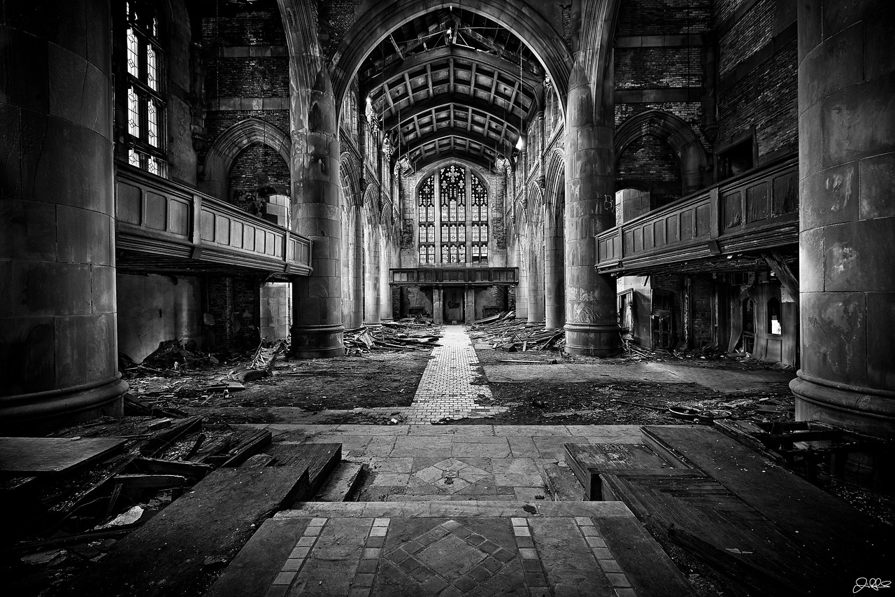 City Methodist Church Main Cathedral<br /> <br /> Here is the main Cathedral of City Methodist Church, which has been abandoned for over 3 decades.