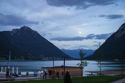 Achensee in der blauen Stunde, Pertisau, Tirol, Österreich