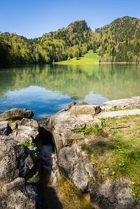 Faulenbach beim Alatsee, bei Füssen, Oberbayern, Deutschland