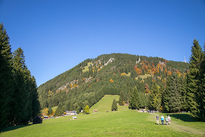 Blick auf den Berggasthof Alpenblick, nach Starzlachklamm, Schwaben, Oberallgäu