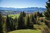 Herbst im Allgäu auf der Wanderung nach der Starzlachklamm, Schwaben, Oberallgäu