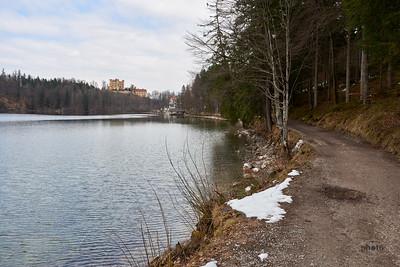 Alpsee mit Hohenschwangau im Hintergrund, Bayern, Deutschland