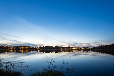 Sonnenuntergang am See von Bad Bayersoien, Oberbayern, Bayern, Deutschland