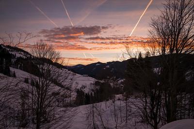 Sonnenaufgang am Hochkönig, Club Aldiana, Mühlbach am Hochkönig, Österreich